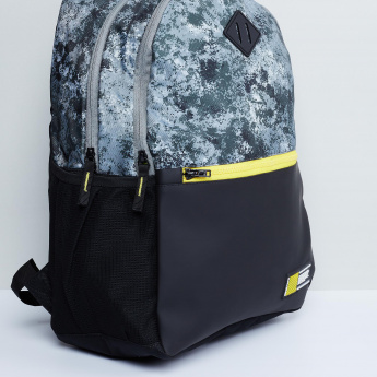 MAX Camouflage Print Colourblock Backpack