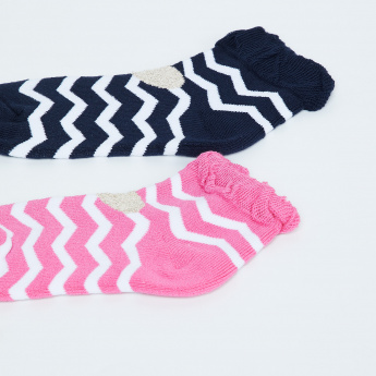 MAX Chevron Print Socks - Pack of 2