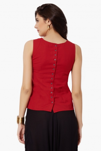 MAX Sleeveless Embroidered Top