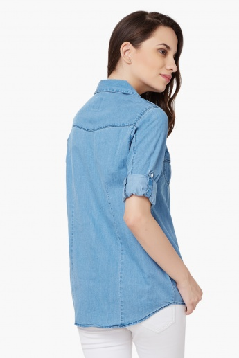 MAX Roll-Up Sleeves Denim Shirt