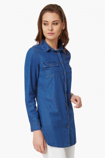 MAX Full Sleeves Denim Tunic
