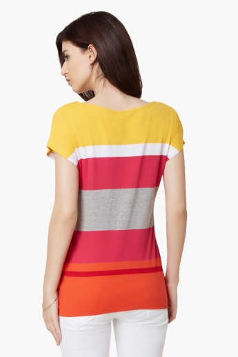 Max Striped Elasticated Hem Top
