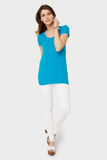 MAX Solid Elasticated Hem Top