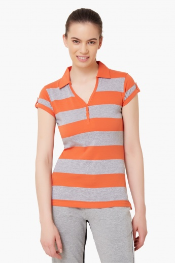 MAX Striped Collared T-Shirt