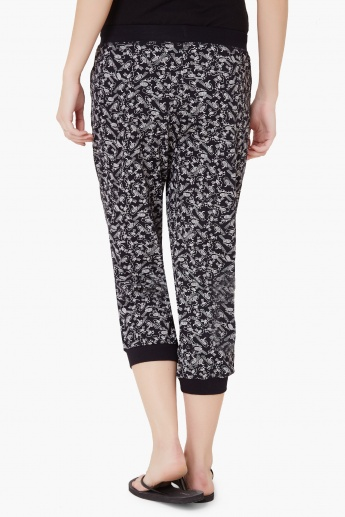 MAX Printed Elasticated Waist Capris