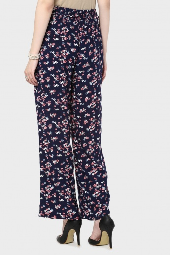 MAX Floral Print Flared Pants