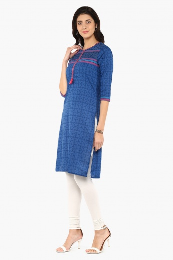 MAX Printed Tasseled Bunch Kurta