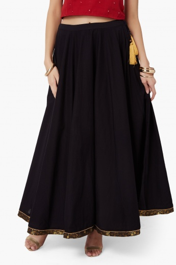MAX Solid Fusion Maxi Skirt