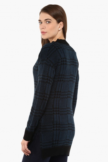 MAX Pocketed Checked Cardigan