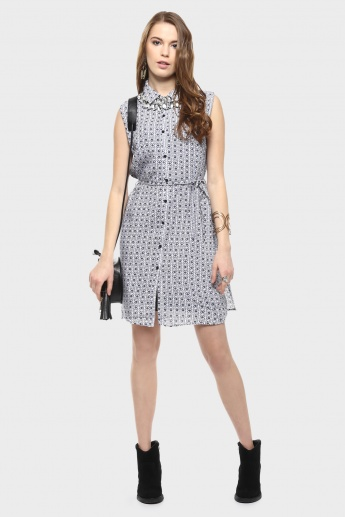 MAX Printed Shirt Dress