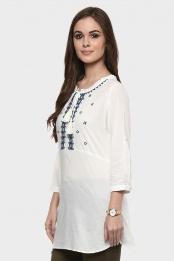 MAX 3/4th Sleeves Peasant Blouse