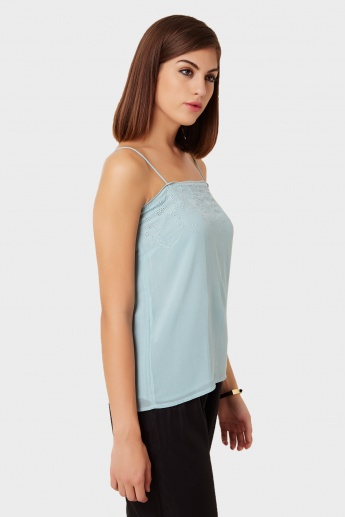 MAX Eyelet Bliss Cami Blouse