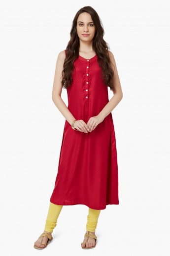 MAX Button Placket Sleeveless Kurta