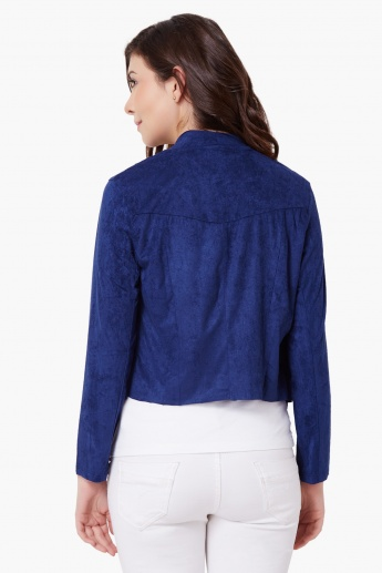 MAX Suede Waterfall Shrug