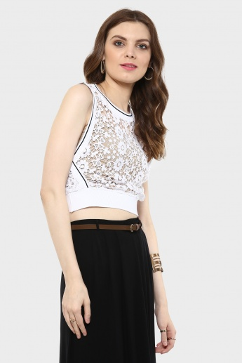 MAX Ribbed Crochet Crop Top