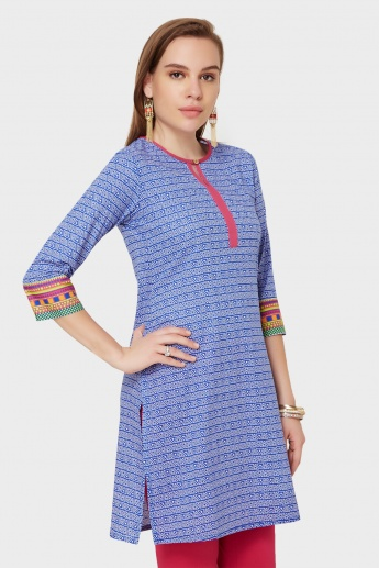 MAX Printed Key-Hole Detail Kurti