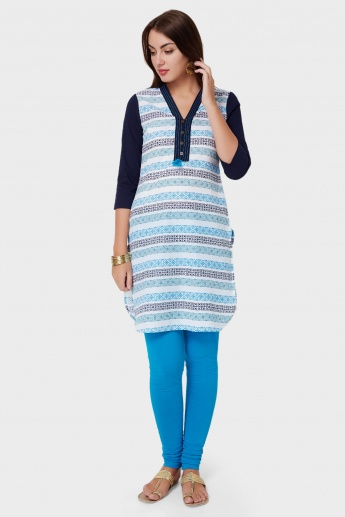 MAX Printed Straight Cut Kurti