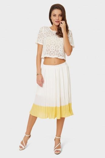 MAX Accordion Pleated Skirt