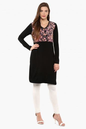 MAX Printed Full Sleeves Kurta