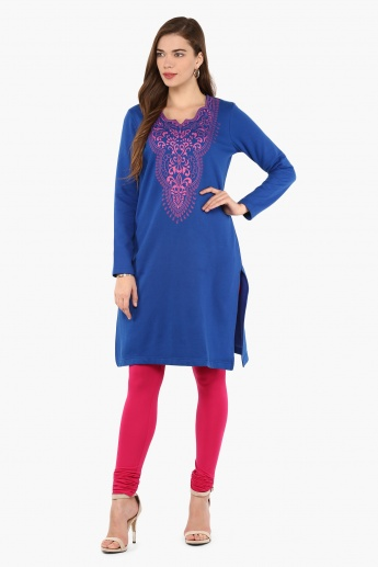 MAX Printed Full Sleeves Kurti