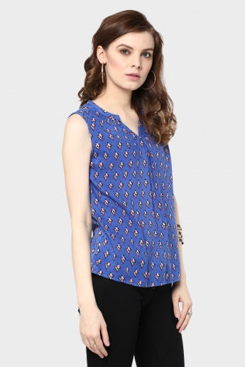 MAX Sleeveless Printed Top