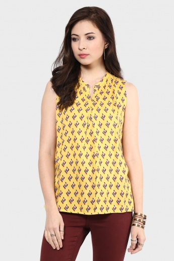 MAX Printed Sleeveless Blouse