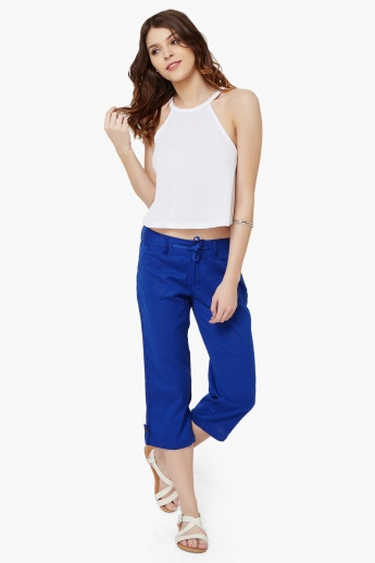 MAX Solid Straight Fit Capris