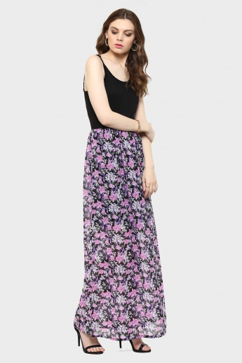 MAX Strappy Floral Print Maxi Dress