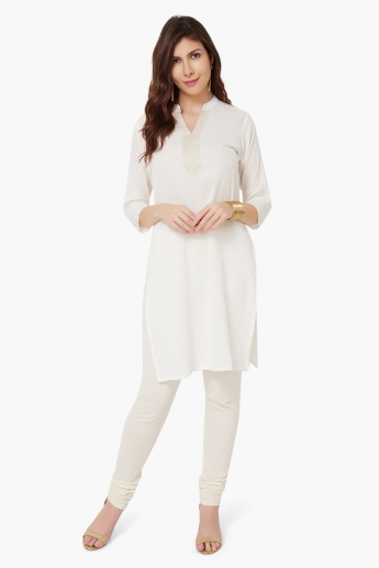 MAX Band Collar Pintuck Kurti