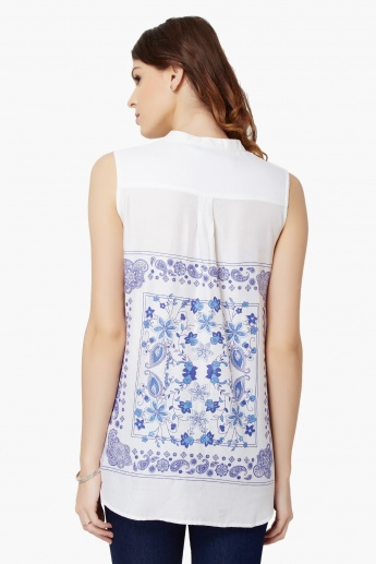 MAX Printed Sleeveless Shirt