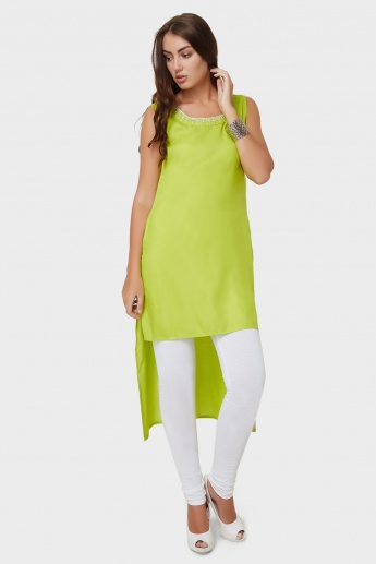 MAX Sleeveless High-Low Hem Kurta