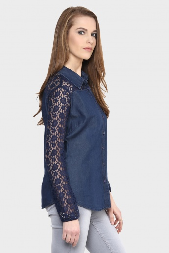 MAX Lace Sleeveless Shirt