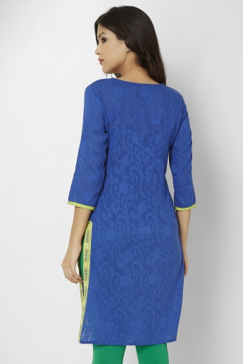 MAX Embroidered Straight Kurti