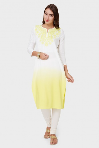MAX Embroidered Ombre Effect Kurta