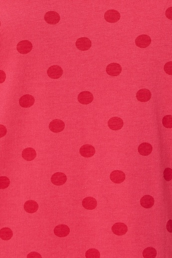 MAX Round Neck Polka Dot T-Shirt