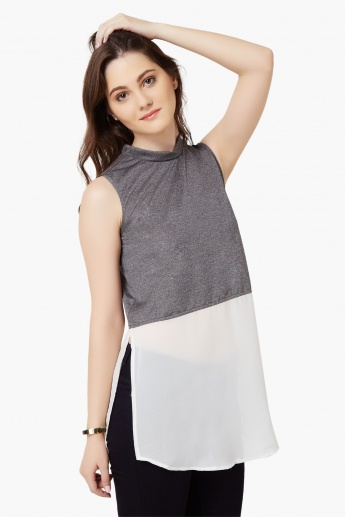 MAX Sleeveless High Neck Top