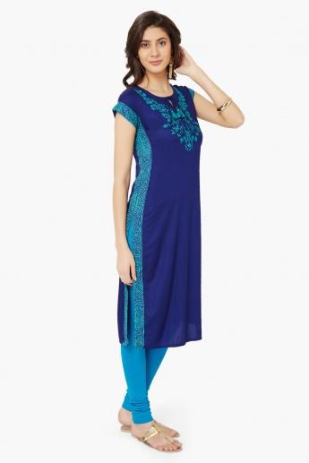 MAX Embroidered Tie-Up Neck Kurta