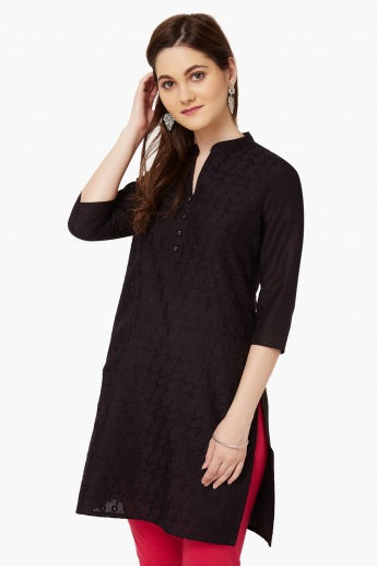 MAX Embroidered Band Collar Kurti