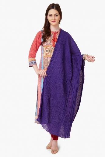 MAX Crushed Solid Dupatta