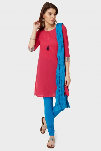 MAX Solid Crushed Dupatta