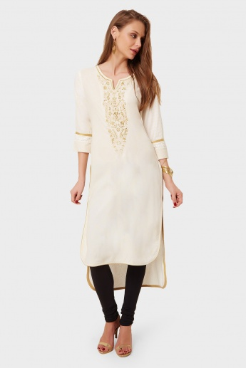 MAX Embroidered High-Low Hem Kurta