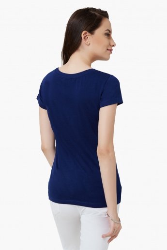 MAX Round Neck Chest Imprint T-Shirt