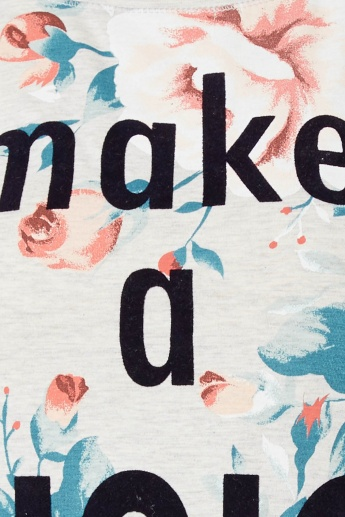 MAX Quote Imprint Floral Top