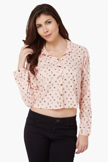 MAX Printed Cropped Shirt