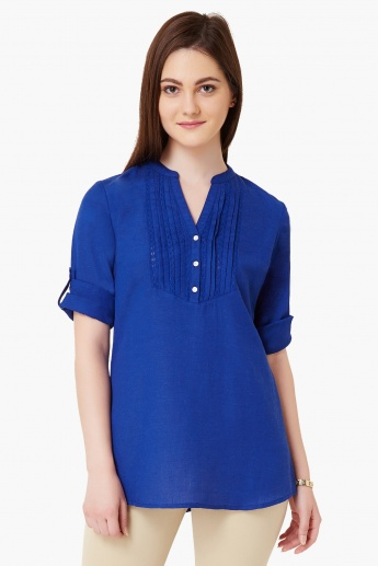 MAX Roll-Up Sleeves Tunic