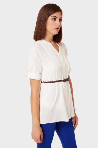 MAX Belted Button-Up Tunic