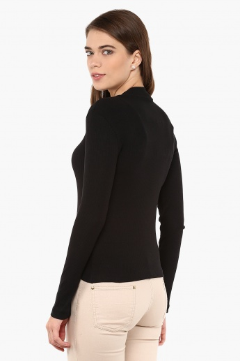 MAX Full Sleeves Flat Knit Top