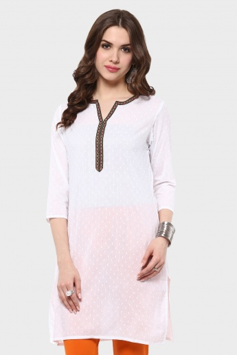 MAX Textured Cotton Kurti