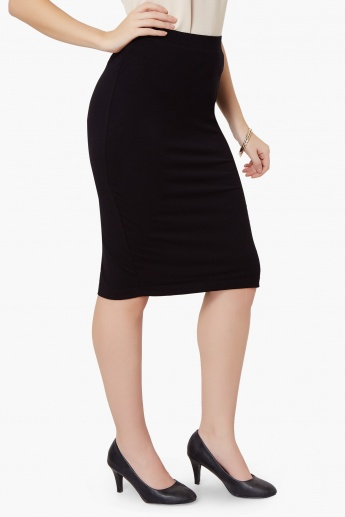 MAX Solid Pencil Skirt