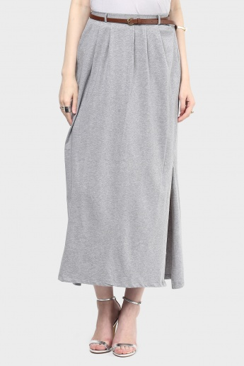 MAX Side Slit Pleated Skirt
